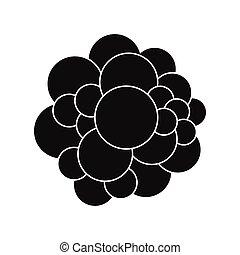 Virus black simple icon