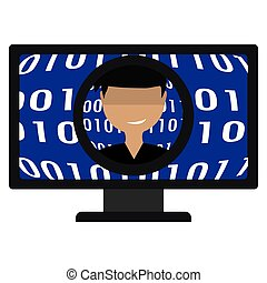 Virus Computer background