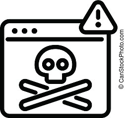 Virus computer danger icon, outline style