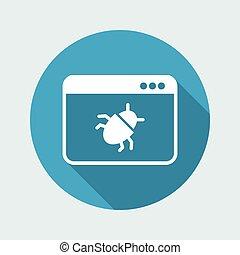 Virus danger - Vector web icon
