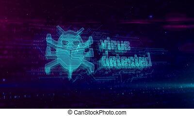 Virus detected hologram loppable concept - Virus detected...