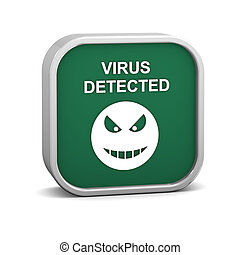 Virus Detected Sign