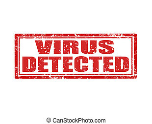 virus, detected-stamp