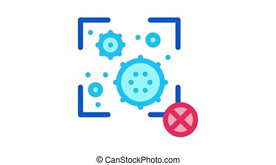 virus detection Icon Animation. color virus detection animated icon on white background