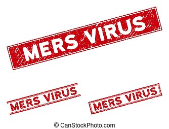 virus, filigranes, mers, grunge, rectangle