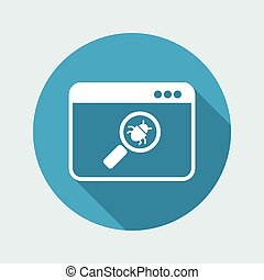 Virus find - Vector web icon
