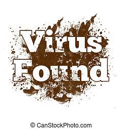 Virus Found Messy Blot