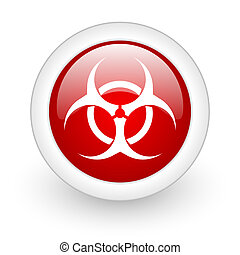 virus icon - glossy oryginal circle icon with shadow on...