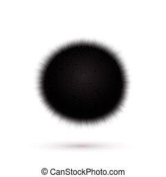 Virus icon isolated on white background