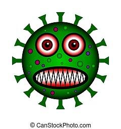 Virus icon on white.