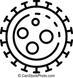 Virus icon, outline style