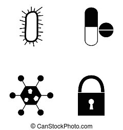 virus icon set