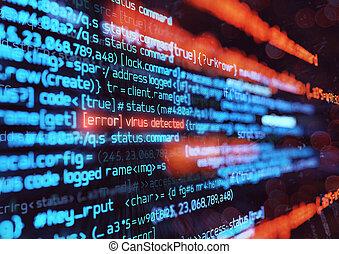 virus, informatique, attaque, fond