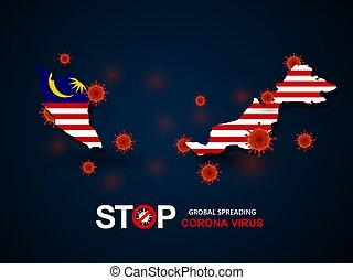 virus, malasia, alrededor