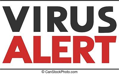 virus, message, alerte