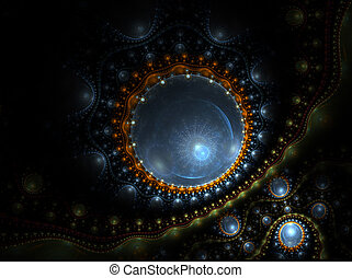 virus, microorganism under the microscope - microbe,...
