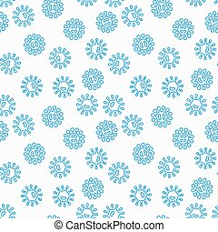 Virus or bacteria vector seamless pattern