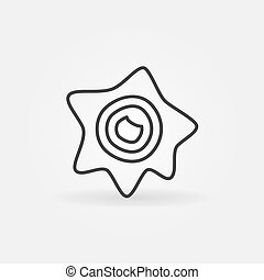 Virus or Bacteria vector simple concept outline icon - Virus...