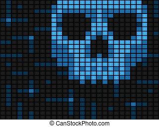 virus ordinateur, fond