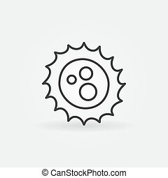 Virus outline vector concept icon
