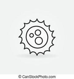 Virus outline vector concept icon