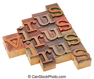 virus, palabra, Extracto