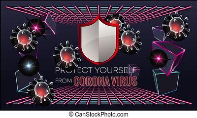 virus, protéger, couronne, vous-même