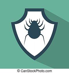 virus protection data technology symbol