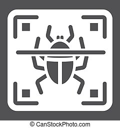 Virus scan solid icon, security and antivurus