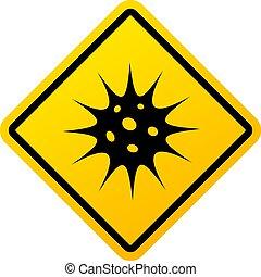 virus, segno, avvertimento