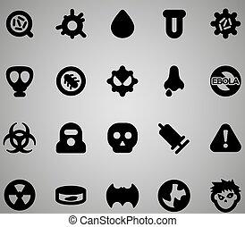 virus, set, icona
