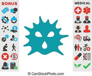 Virus Structure Icon
