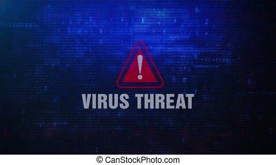 VIRUS THREAT Alert Warning Error Message Blinking on Screen...