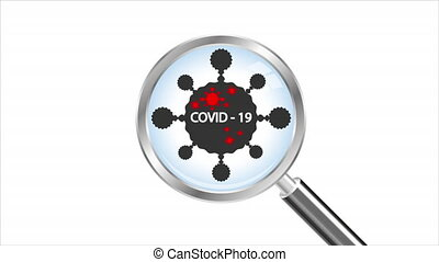 virus under a magnifying glass - Virus under a magnifying ...