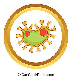 Virus vector icon
