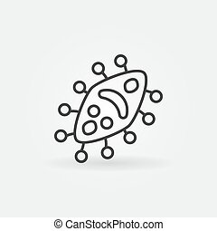 Virus vector microbiology concept icon in outline style