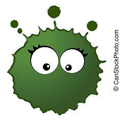 virus, vektor, keime