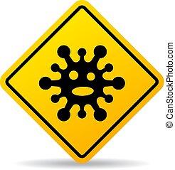 virus, vettore, segno, avvertimento