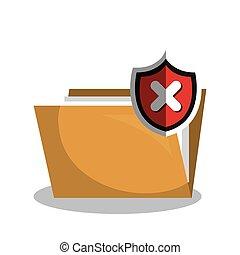 virus warning data grpahic isolated