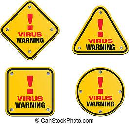 virus warning signs