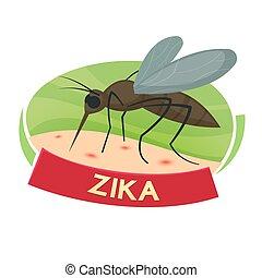 Virus Zika vector illustration