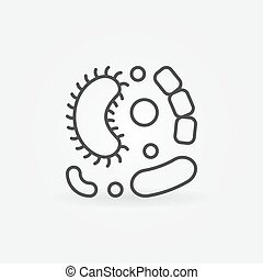 Viruses vector simple line icon