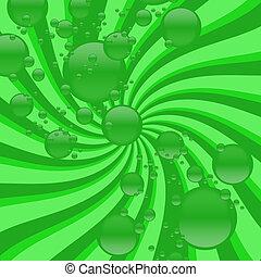 virvla runt, abstrakt, bubbla