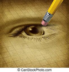 visão, perda