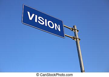 visão, sinal estrada