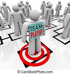 visé, diagramme, joueur, collaboration, équipe, organisationnel, org