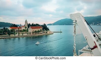 Vis Port Croatia - The ferry departs from the port of Vis on...