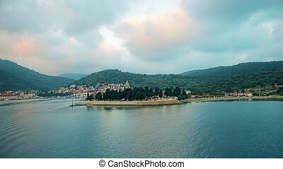 Vis Port - Croatia - The ferry departs from the port of Vis...