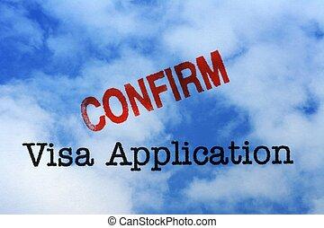 Visa application - confirm