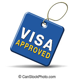 visa approved immigration stamp for crossing the border...